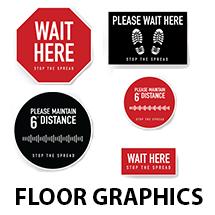 Social Distancing Floor Graphics